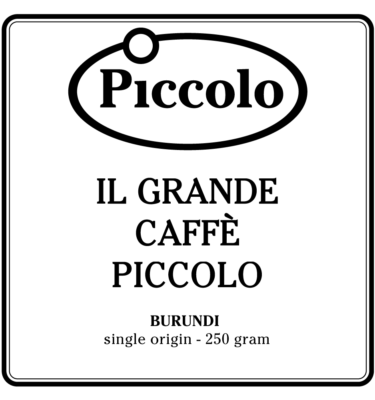il grande caffe piccolo - BURUNDI - single origin